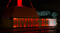 The Diving Bell (Dubspotter2015) Tags: sir john rogersons quay dublin city night structure red lights diving bell 140 year old nightscape nightphotography nightphotos longexposures river liffey riverliffey irish ireland