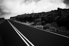 i fell for the destruction (Lamson Noswen) Tags: hawaii bigisland craters chainsofcraters nature mono road contrast ricoh lamson blackandwhite nowhere lava lines