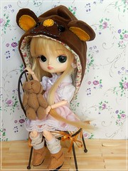 Happy B-day Mush!  (Pliash) Tags: dal doll cute kawaii pullip bear girl magical pink chan groove rewigged
