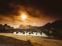 Ilfracombe Morning (Richard Walker Photography) Tags: devon seascape landscape clouds rocks ilfracombe sea ocean mountains beach headland mist fog boats harbour sky landscapephotography