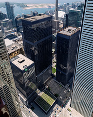 20160828. An aerial view on a Mies van der Rohe masterpiece - the TD Centre. (Vik Pahwa Photography) Tags: aerial aerialphotography architecture miesvanderrohe mies officecomplex bregmanhamannarchitects johnbparkinassociates cadillacfairview torontodominioncentre skyscraper tallbuildings internationalstyle modernism downtown financialdistrict bay king toronto tower vikpahwaphotography vikpahwacom