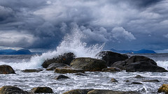 Winter is on the way (jforberg) Tags: 2016 seaside sea storm wether color waves stones sky cloudy cloud norway noregia norwegian norge atlantic alnes