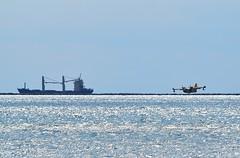 la spezia (dinapunk) Tags: laspezia italy sea firefighter plane ship