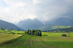 Landscape at the beginning of autumn (rotraud_71) Tags: austria salzburgerland lungau fields mountains trees sky clouds absolutelystunningscapes