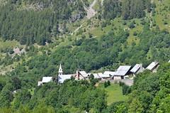 Prapic alpine village (dfromonteil) Tags: alps alpes village valley valle forest fort sunlight lumire light green vert summer t campagne landscape nature