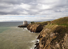 Martello Tower (ken Dowdall) Tags: martellotower fort coast dublin ireland cloudy sea dublinbay clifts