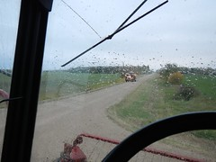 Sept. 23, 2016 (Jeannette Greaves) Tags: 2016 combining canola rlfarm hugh jeannette rained out