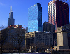 Sears Tower (myfotomaya) Tags: chicago loop searstower michiganave grantpark millenniumpark chicagowinter chicagodowntown willistower