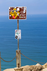 Sign above Black's Beach in San Diego (Photos By Clark) Tags: california unitedstates sandiego cities places lajolla location where northamerica 70200 locale canon70200f28isl canon60d 7002000mm editforweb photoclubmonthlyoutings pc201207