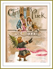 1889 December 4,  Cover 'Puck' , Christmas Cover'  -  Nice Victorian color cover (carlylehold) Tags: art by vintage magazine illustrated cover puck haefner carlylehold robertchaefner