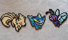 Ninteales, Vaporeon, Butterfree (jordexciu) Tags: art beads crafts nintendo videogames pixel sega sprites perler perlerbeads