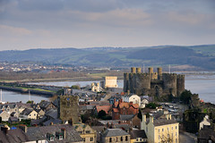 Conwy and Castle (Etrusia UK) Tags: city uk greatbritain bridge houses homes sky house castle history castles water wales clouds buildings landscape geotagged town nikon sandstone cityscape britishisles zoom unitedkingdom fort britain stonework cymru medieval telephoto gb historical walls fullframe dslr fx fortress middleages conwy d800 13thcentury nikkorlens welshcastles 2485mm nikonlens 13thc edwardi edward1 nikon2485mm welshhistory conwycounty nikkor2485mm castlesinwales nikond800 nikon2485mmlens 2485mmlens nikkor2485mmlens 13thcenturycastles geo:lat=5328024542180073 geo:lon=38332629203796387
