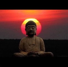Buddha Sun (h.koppdelaney) Tags: life red sun art digital photoshop peace view symbol buddha religion picture buddhism philosophy harmony mind meditation awareness metaphor enlightenment stillness psyche symbolism psychology archetype conscious koppdelaney