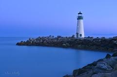 The last light (manu.murthy) Tags: blue lighthouse landscape nikon hour 2470mm d800e