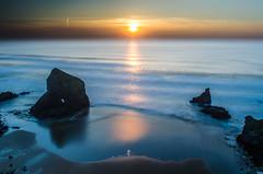 Silk ~ Explored (intrazome) Tags: ocean longexposure sunset sea sun reflection beach nature beautiful weather landscape nikon waves d5100 lpflow