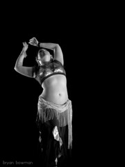 Eugenia (BryanBowman) Tags: white black photography bellydance