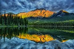 Morning Bliss (Phil's Pixels) Tags: canada sunrise reflections dawn bravo jasper alberta pyramidpeak pyramidlake jasperpark