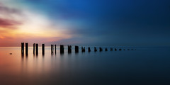 minnis bay (richard carter...) Tags: longexposure sunset seascape canon kent widescreen groynes 1635 minnisbay eos5dmk2