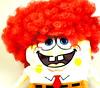 Bob (therainandtherollercoaster) Tags: red yellow canon hair square toy funny soft pants bright character cartoon bob powershot curly wig spongebob cuddly sponge squarepants g11