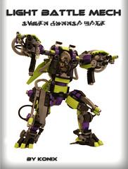 L.B.M action posture (-Konix-) Tags: robot lego scifi mecha mech moc hardsuit conflitdorion