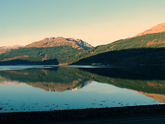 two  moutains (reeny10) Tags: trees water reflections scotland loch lomond moutain glaymore