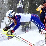 BC Team's Alix Wells (Prince George Ski Club) returns from injury to forerun at Sun Peaks Van Houtte Cup PHOTO CREDIT: JP Daigneault