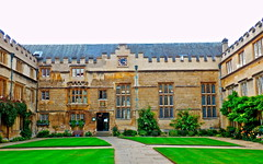 Orderliness Personified (MickyFlick) Tags: tourism architecture university tourists architectural historic oxford learning historical educational oxfordshire touristattraction jesuscollege orderly turlstreet firstquad firstquadrangle mickyflick placeofstudy