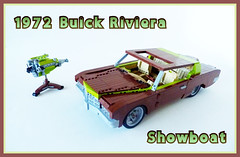 1972 Buick Riviera...Showboat! (Lino M) Tags: brown green boat buick riviera lego tail tan engine showboat 70s lime build 1972 martins challenge lino v8 lugnuts 455 boattail madmotorskills