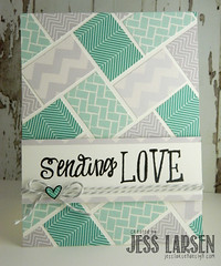 Sending Love (jesslarsendesign) Tags: card deweydecimal brightside lawnfawn grandgreetings