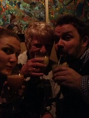 Drinking with my mom and @tomcoates