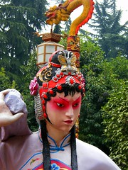 Chinese Opera Statue (Stanley Zimny (Thank You for 37 Million views)) Tags: china travel art face statue opera chinese xian