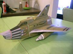 Sky 1 paper model (modern_fred) Tags: ufo shado papermodel gerryanderson