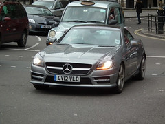 Mercedes-Benz SLK250 (kenjonbro) Tags: uk blue london hardtop westminster sport silver grey trafalgarsquare convertible mercedesbenz cabrio charingcross dull amg 2012 sw1 cdi worldcars kenjonbro blueefficiency fujifilmfinepixhs10 slk250 gv12vld