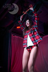 Lumberjack! (Moonglow Burlesque) Tags: show woman girl shirt dance check women stage performance dancer striptease axe tease cabaret plaid burlesque lumberjack