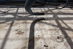 (spacetimecurvature) Tags: shadow abandoned floor pipes