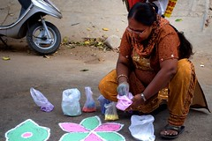 15 (akila venkat) Tags: street art colours patterns bangalore rangoli indianart