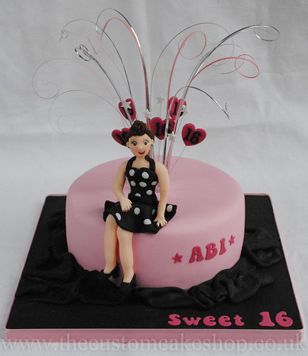 Grease And 50s Themed Birthday Party Cake