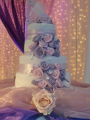 Purple White Wedding Roses 1