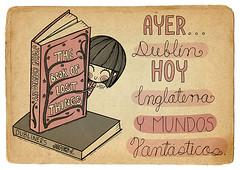 Hoy (Anita Mejia) Tags: pink cute girl illustration pen ink cat reading sketch cartoon kitty books seuss read doodle kawaii vacaciones comicdiary chocolatita anitamejia