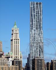 Eight Spruce Street (New York by Gehry) Residential Tower, Lower Manhattan, New York City (jag9889) Tags: street city nyc ny newyork building tower architecture modern skyscraper frank manhattan rental 8 gehry architect residential frankgehry spruce units beekman 2011 2013 8sprucestreet jag9889 newyorkbygehry