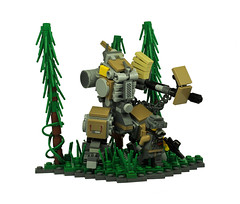Ghost Hunters (Mecharonn) Tags: trees dark lego fig hard tan mini suit minifig mech recon hardsuit twees