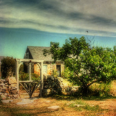 --- island house --- (xandram) Tags: photoshop shadows manipulation textures stonehouse isleofshoals starisland tonemapped tatot