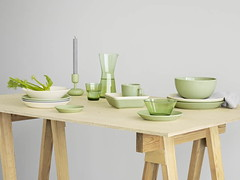 Teema and Kartio in Green (Dinner Series) Tags: green design finnish iittala dinnerware glassware origo teema didriks