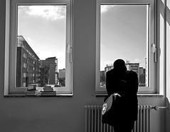 Im Tietz (Margot in Love) Tags: bw men window germany deutschland blackwhite library fenster saxony books sachsen mann chemnitz bcher bcherei schwarzweis 2013 dastietz pentaxk5