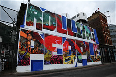The Rolling People (Alex Ellison) Tags: urban streetart graffiti mural painted shoreditch brk vu eastlondon scarce seks cept snoe villageunderground trp holywelllane therollingpeople thewallproject
