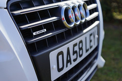 Audi pardner! (SparkleHedgehog) Tags: white cars car sport germany tdi back 4x4 fast 4wd s front line grill ibis bumper fender german a3 a1 20 a4 audi bonnet tuning s3 a5 alloys awd oakley s4 alloy rs4 s5 quattro r8 tuned sline sportback rs3 rs5