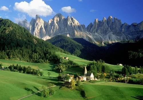 paisajes montañas verdes