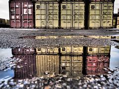 Lo scalo (soul-san) Tags: train paddle olympus container railwaystation pioggia ferrovia pozzanghera scalo dinazzano epl5 olympusepl5nevecani castelnuovor effettodrammatico