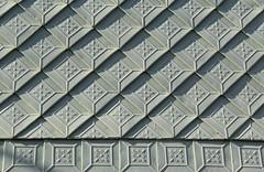 Metal-shingled wall (:Linda:) Tags: green metal germany village shingle thuringia onecolor squared rhombus rhomb brden