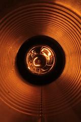 (- Hob -) Tags: light orange abstract black bulb bronze tin circles filament 9981 sooc processedpeas